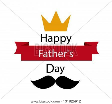 father's day greeting template vector illustration art