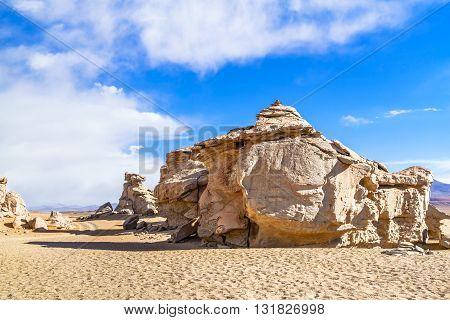 Rock formation in Reserva Nacional De Fauna Andina Edina Eduardo Avaroa Potasi Bolivia