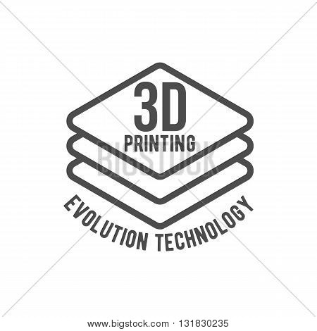 3D printer vector icons logotypes and badges
