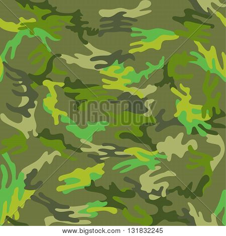 Camouflage seamless spots pattern background vector illustration