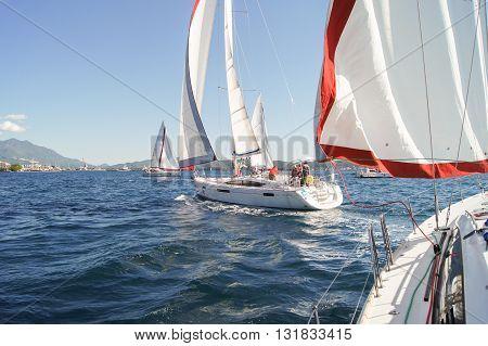 Tivat, Montenegro - 26 April, Racing on offshore yachts, 26 April, 2016 Regatta