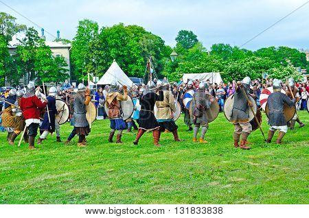 SAINT PETERSBURG RUSSIA -MAY 27,2016. Open air festival of Norwegian culture