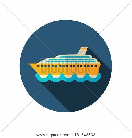 Cruise transatlantic liner vector flat icon. Beach. Summer. Summertime. Vacation eps 10