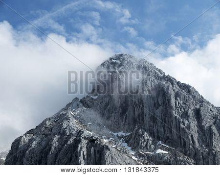totenkirchl mountain in tyrol austria in spring