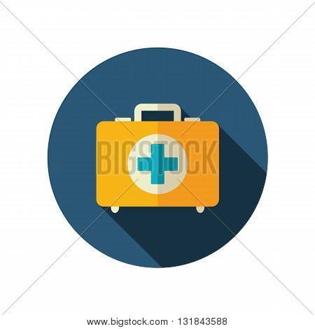 First aid kit vector flat icon. Beach. Summer. Summertime. Vacation eps 10