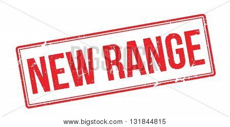 New Range Red Rubber Stamp On White
