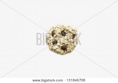 Cookie of grains. Isolated on a white background.