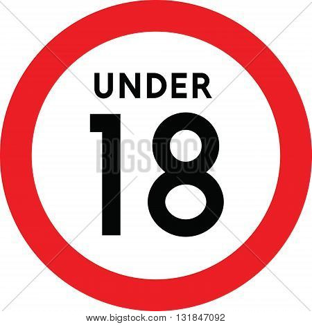 Under Eighteen Sign