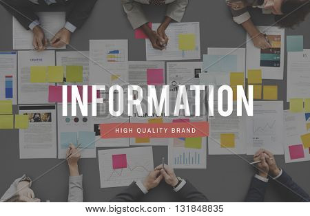 Information Communication Business Data Concept