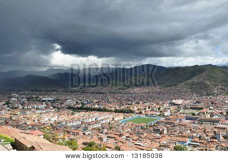 Black Sky and Shadows Over Cuzco