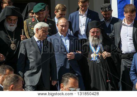 Russian President Vladimir Putin During His Visit To Mount Athos