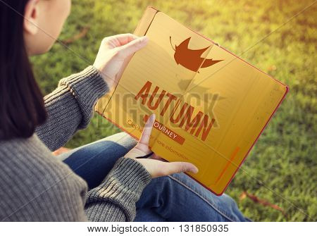 Autumn Fall Foliage Fresh Nature Season Vibrant Concept