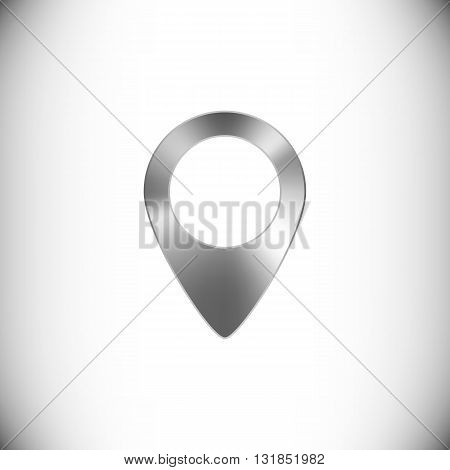 The steel icon representing map marker for web or mobile devices.