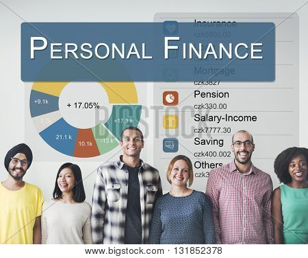 Personal Finance Information Balance Privacy Concept