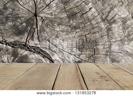 Wood plank with the abstract wood texture.  Wood plank and wood surface background. Abstract wood background.