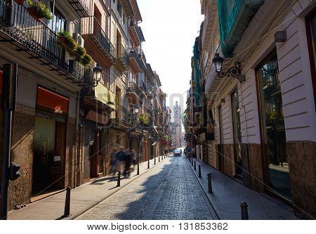 Valencia Barrio del Carmen street in old town of Spain