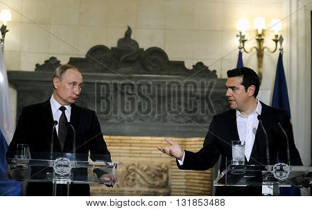 President Of The Russian Federation Vladimir Putin Visit To Greece
