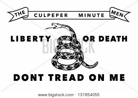 The Historic Culpeper Minutemen flag,  Authentic version