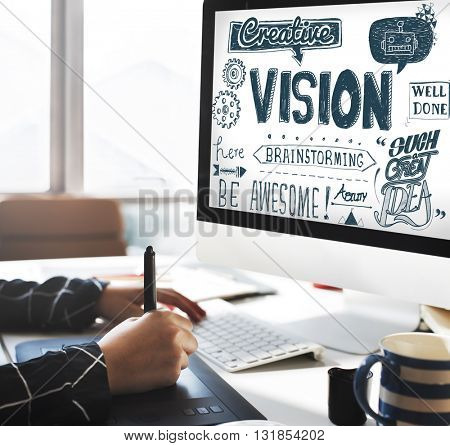 Vision Creative Ideas Inspiration Target Concept