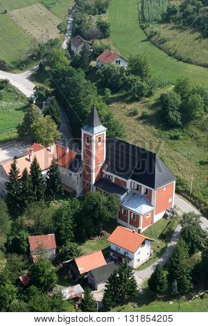 KOTARI, CROATIA - JULY 19: Church of Saint Leonard of Noblac in Kotari, Croatia on July 19, 2007.