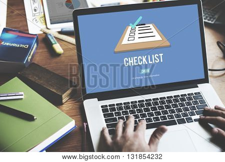 Checklist Choice Decision Document Mark Concept