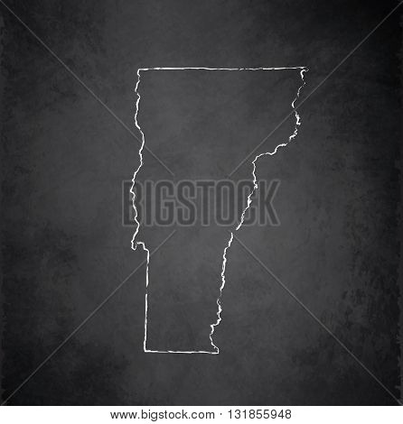 Vermont map blackboard chalkboard raster black white