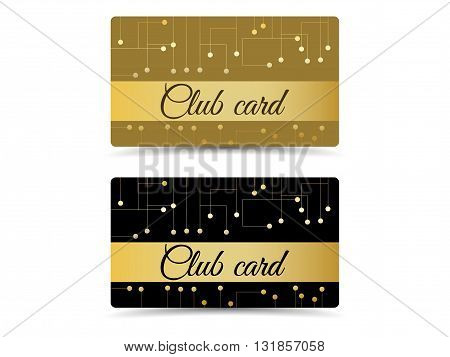 Club Card. Club Vip Card. Set Club Cards, Gift Cards.