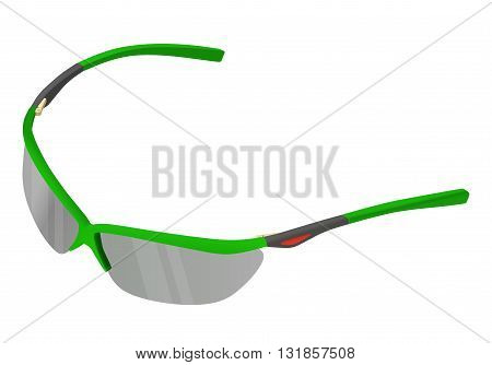 Sunglasses isometric perspective view. Eyeglasses flat vector 3d illustration