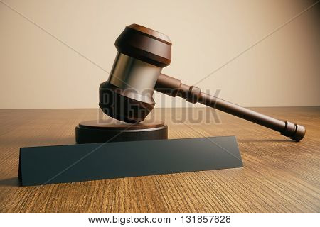 Gavel And Name Plate