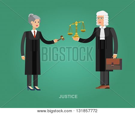 Vector detailed character the judge, cool flat judge illustration. Vector judge. Illustration judge
