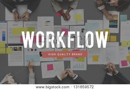 Work Smart Flow Effective Planning Productive Concept