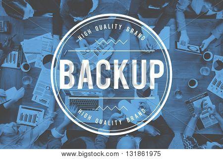 Backup Data Reserve Information Security Storage Concept