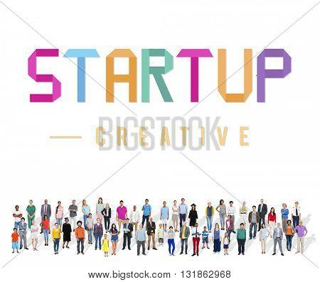 Start Up Development Enterprise Launch Growth Concept