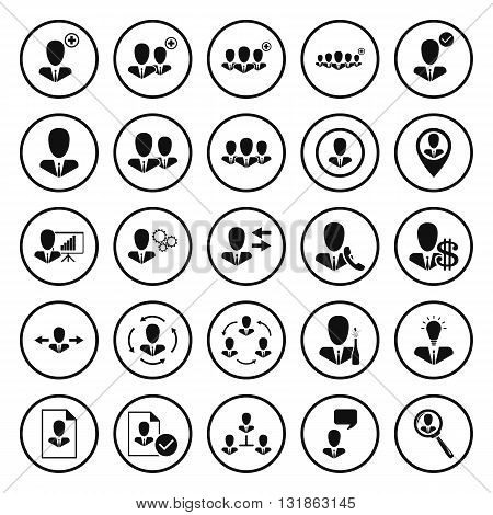 Human resources and user management icons  set.