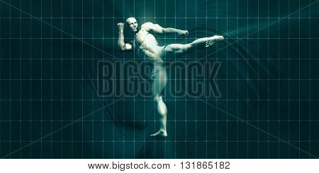 Physical Training for Motivation and Inspiration Art 3D Illustration Render