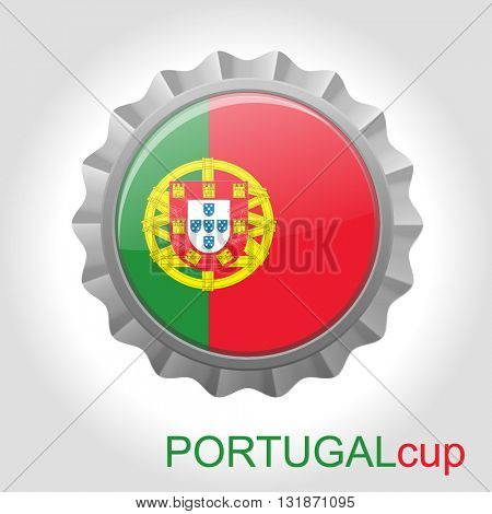 Portugal flag cup