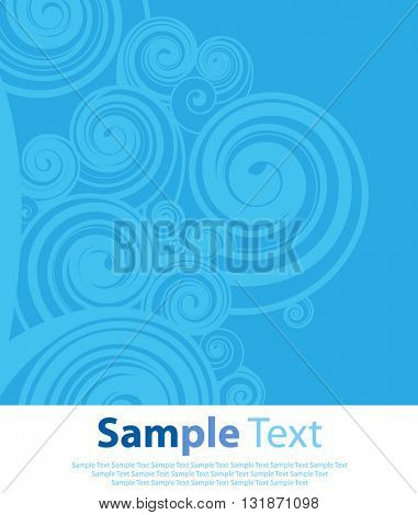 Blue abstract background with circle