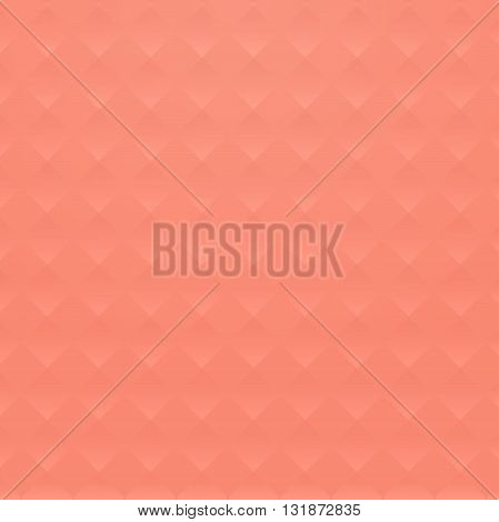 Coral background with geometric road texture. Summer fresh soft background for the site in the vector.
