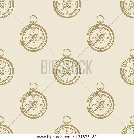 Compass vintage pattern sea naval background symbol emblem label collection set