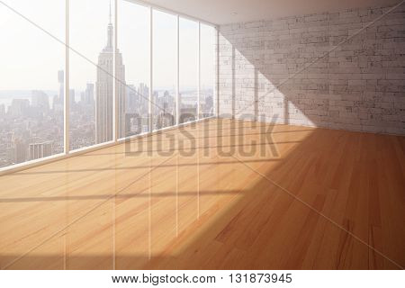 Empty Interior With Ny View