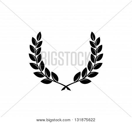 Black silhouettes isolated on white background. Vector icon.