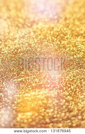 Festive background. Glitter vintage lights background . Christmas and New Year feast  background