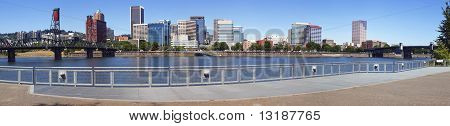 Skyline panorama, Portland Oregon.