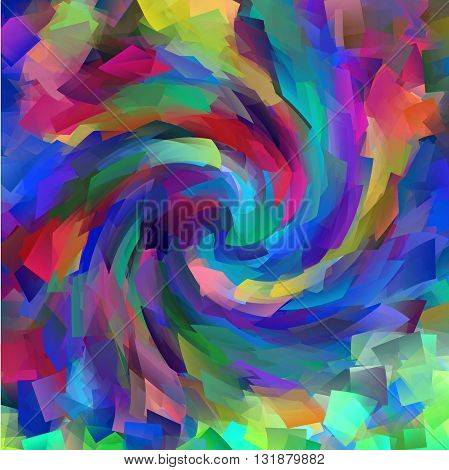 Abstract coloring   gradients background with visual cubism and twirl  effects