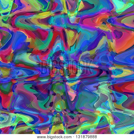Abstract coloring  gradients background with visual cubism and wave effects
