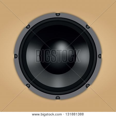 Audio speaker. Photo realistic vector of sound speaker.