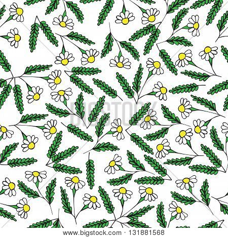 Seamless with white color flower. Vector illustration pattern with white color flower. Can be used for banner card invitation textile fabric wrapping paper.