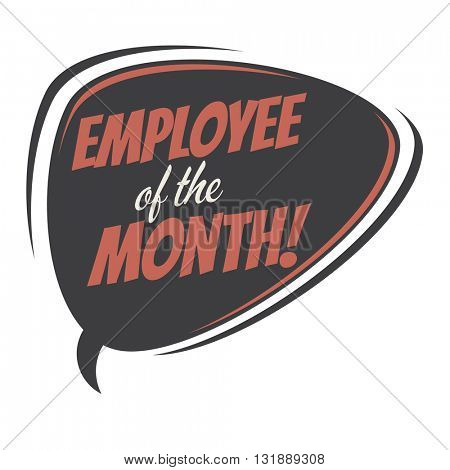 employee of the month retro speech bubble