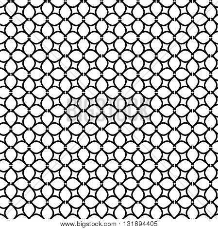Geometric black and white ornament. Seamless pattern for wallpapers and backgrounds