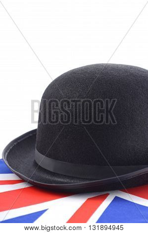 Bowler Hat And English Flag.